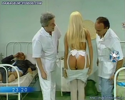 Paula Volpe hot nurse striptease