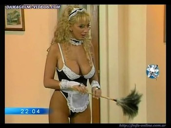 Sabrina Pettinato horny maid in erotic lingerie