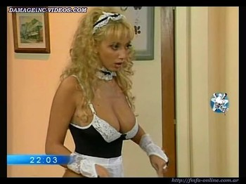 Sabrina Pettinato busty maid in lingerie