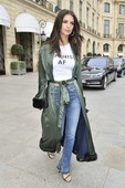 Emily Ratajkowski - Candids in Jeans out in Paris 5