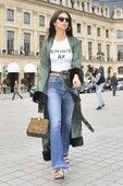 Emily Ratajkowski - Candids in Jeans out in Paris 17
