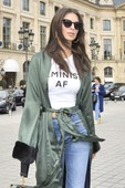 Emily Ratajkowski - Candids in Jeans out in Paris 1