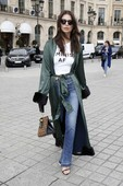 Emily Ratajkowski - Candids in Jeans out in Paris 13
