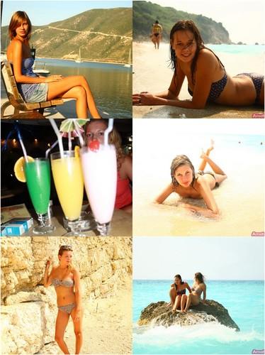 Three Hot Cute Girlfriends Show Plenty Of Skin In The Seaside