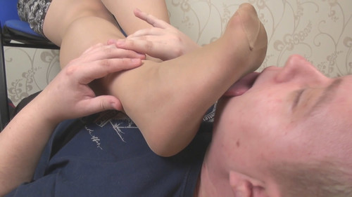 Sofia - smell my stockings after work day Full HD