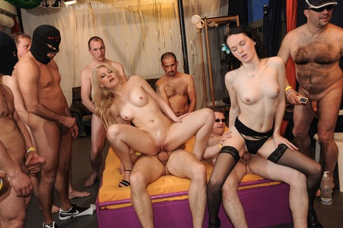 Groupbanged.com -   These babes know how to handle a gang bang