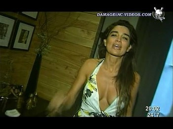 Veronica Varano hot cleavage dress
