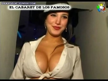 Andrea Rincon busty cleavage showgirl