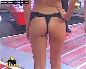 Ivana Palliotti cute butt in black thong
