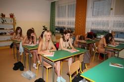 Nudist high school