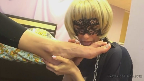 Double Foot Worship Huge Size-47 in Ekaterina Lisina.