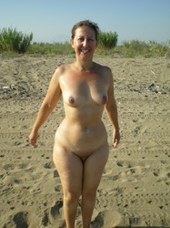 Matchless naked mature nudists outdoors