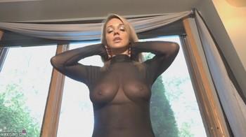 Nikki Sims braless sheer top