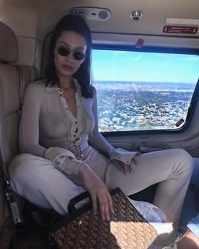 Bella Hadid braless See-Through