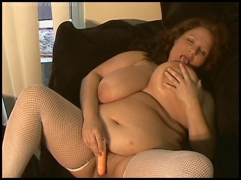 Queenie - Siliconefree - Busty Fattie Video 1