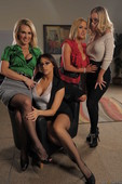 Chanel Preston & Krissy Lynn & Nicole Aniston & Tanya Tate - Office 4-Play V - C