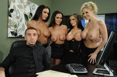 Jenna Presley & Jessica Jaymes & Julia Ann & Kirsten Price - Office 4-Play IV (h