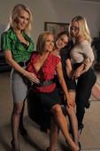 Chanel Preston & Krissy Lynn & Nicole Aniston & Tanya Tate - Office 4-Play V - C