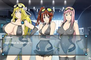 Huge tits hentai game