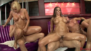 Lesbian threesome bondage